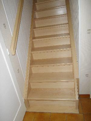 Départ Renovation Escalier Droit entre cloison