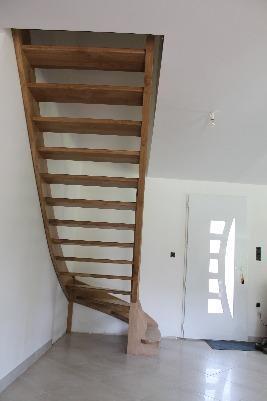Escalier 1/4 Tourant - Sans contre-marche - Chêne